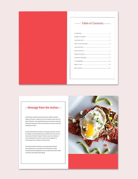Diy Cookbook Template