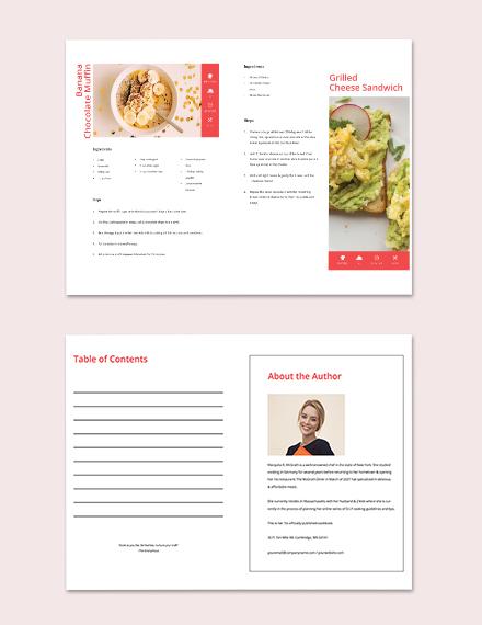 Printable Diy Cookbook Template