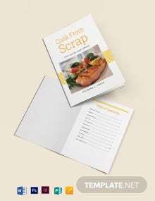 Scrap Book Cookbook Template