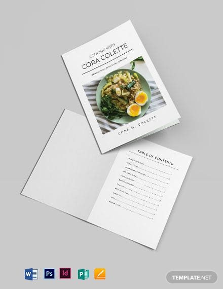 Self Publish Cookbook Template