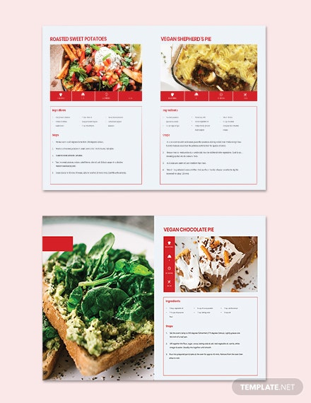 Editable Vegetarian Cookbook Template