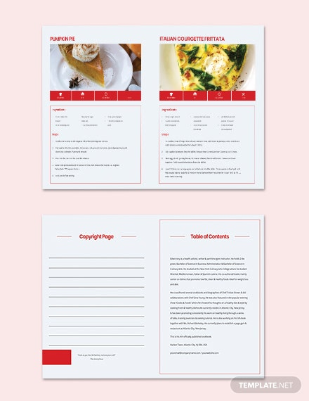 Printable Vegetarian Cookbook Template