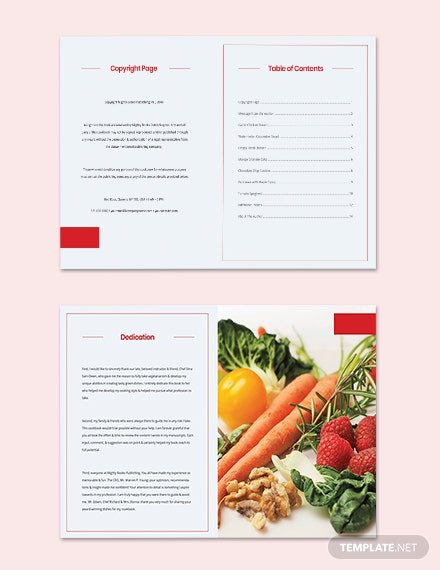 Vegetarian Cookbook Template