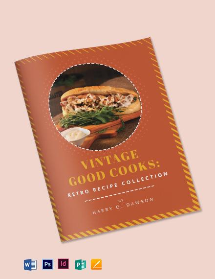 Vintage Cookbook Template