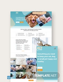 Pet Care WordPress Theme/Template