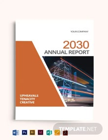 Annual Report Bookcover Template