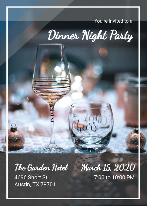 Free Dinner Night Party Invitation Template.jpe