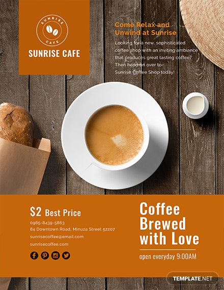 free cafe flyer template  download 675  flyers in psd