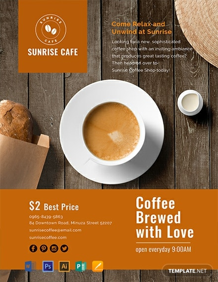 free cafe flyer template  download 1368  flyers in psd