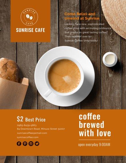 Cafe Flyer Template In Adobe Photoshop Illustrator Microsoft Word
