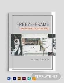 Photography Book Cover Template