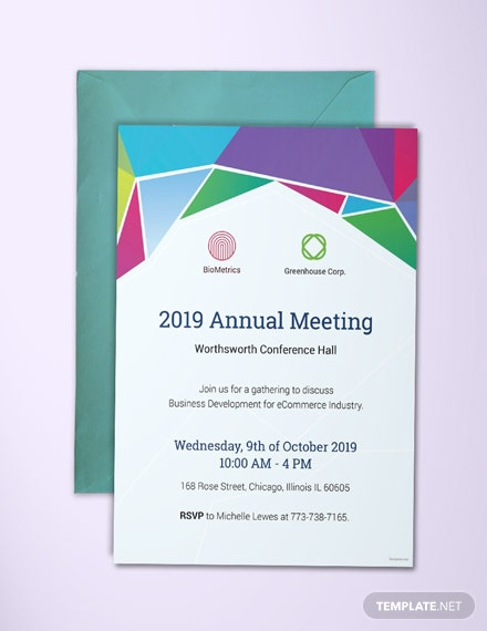 11 free invitation business templates download ready made free annual meeting invitation template fbccfo Image collections