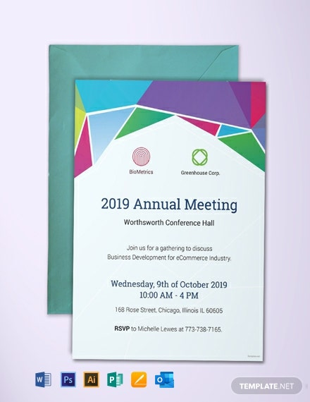 Free Annual Meeting Invitation Template