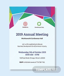 Meeting Invitation Template Adobe Illustrator Photoshop