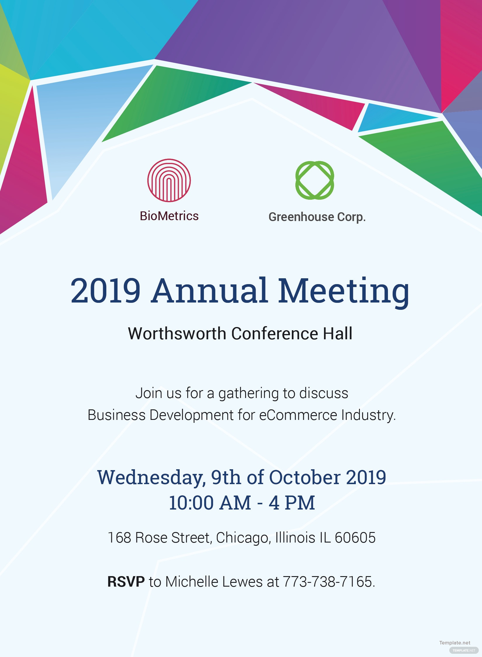 annual meeting invitation template in adobe illustrator