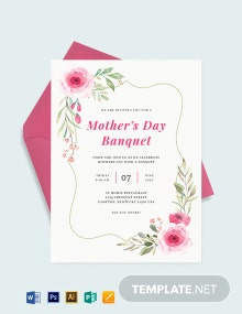 Mothers Day Banquet Invitation Template