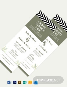 Movie Ticket Fall Wedding Invitation Template