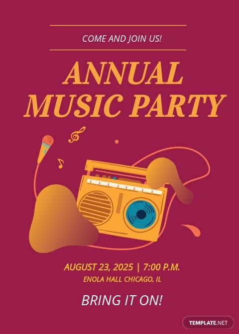 Music Party Invitation Template