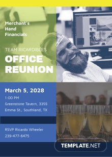 Office Reunion Invitation Template