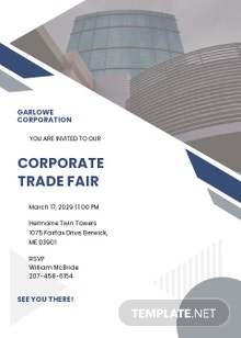 Official Corporate Invitation Card Template