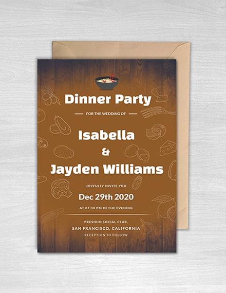 Free Wedding Dinner Invitation Template