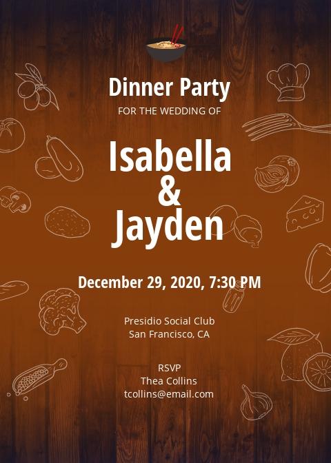 Free Wedding Dinner Invitation Template.jpe