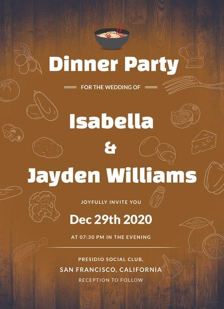 Wedding Dinner Invitation Template