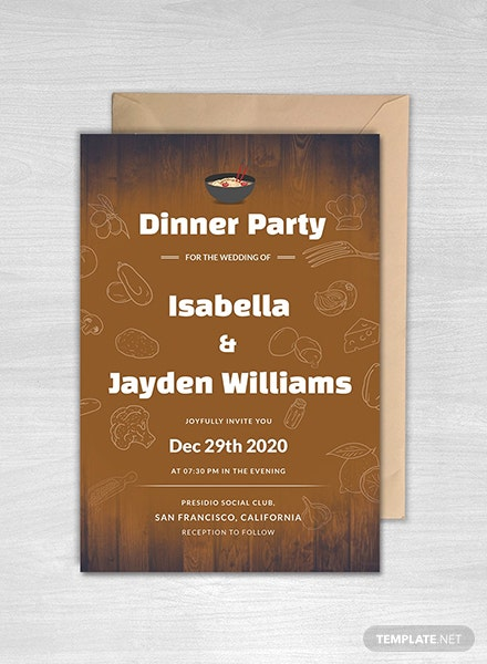 Free Wedding Dinner Invitation Template