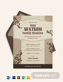 Old Family Reunion Invitation Template