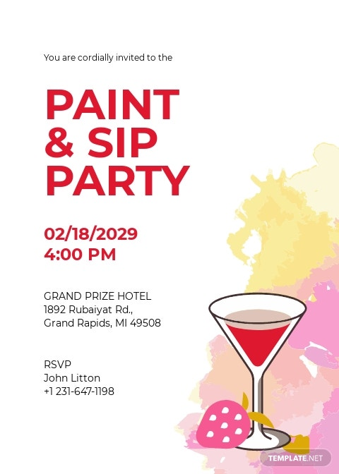 Paint and Sip Party Invitation Template.jpe