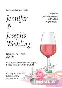 Paint and Sip Fall Wedding Invitation Template