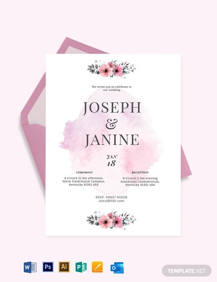 Paint Party Fall Wedding Invitation Template