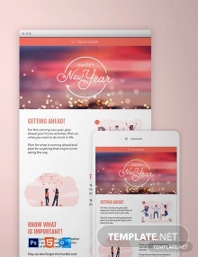Modern Holiday Newsletter Template