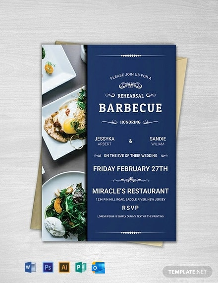 Free BBQ Party Invitation Template