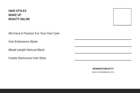 Free Beauty Parlor Postcard Template 1.jpe