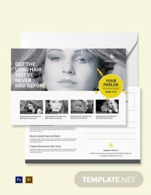 Free Beauty Parlor Postcard Template