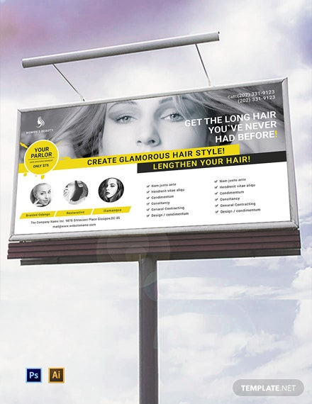 Free Beauty Parlor Billboard Template