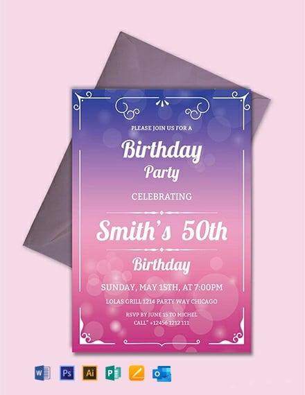 It is a photo of Free Printable 50th Birthday Invitations regarding design
