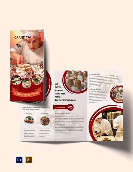 catering service tri fold brochure