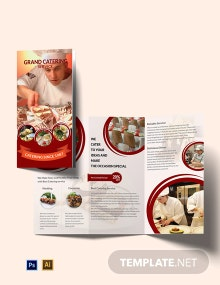 Catering Service A3 Brochure Template