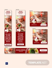 Catering Service Banner Ads