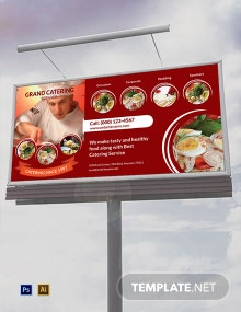 Catering Service Billboard Template