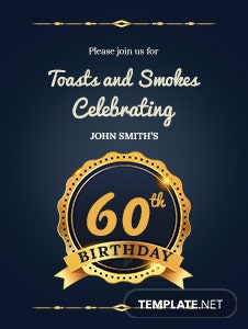 60th Birthday Invitation Template