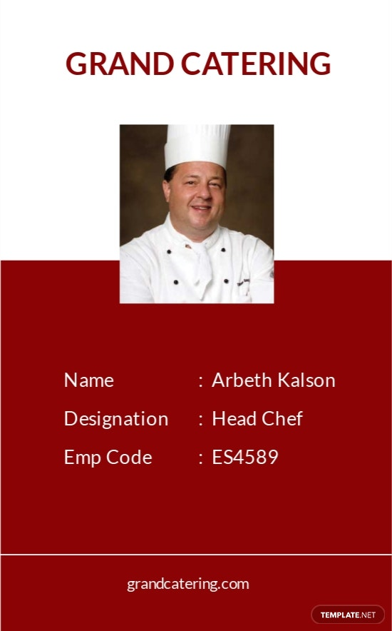 Catering Service Identity Card Template.jpe