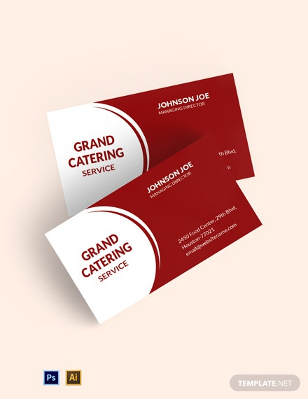 Professional Catering Service Business Card