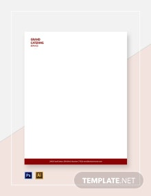 Catering Service Letterhead Template