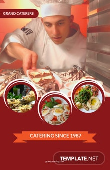 Catering Service Poster Template