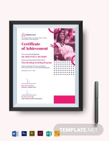 Cheerleading Certificate Of Achievement Template