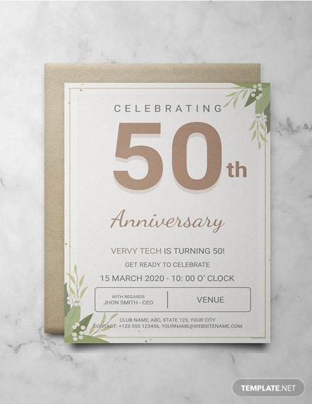 Free Corporate Anniversary Invitation Template Download 344