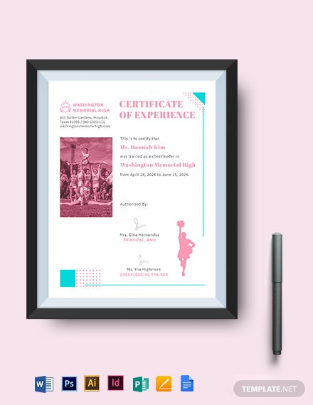 Cheerleading Certificate Template